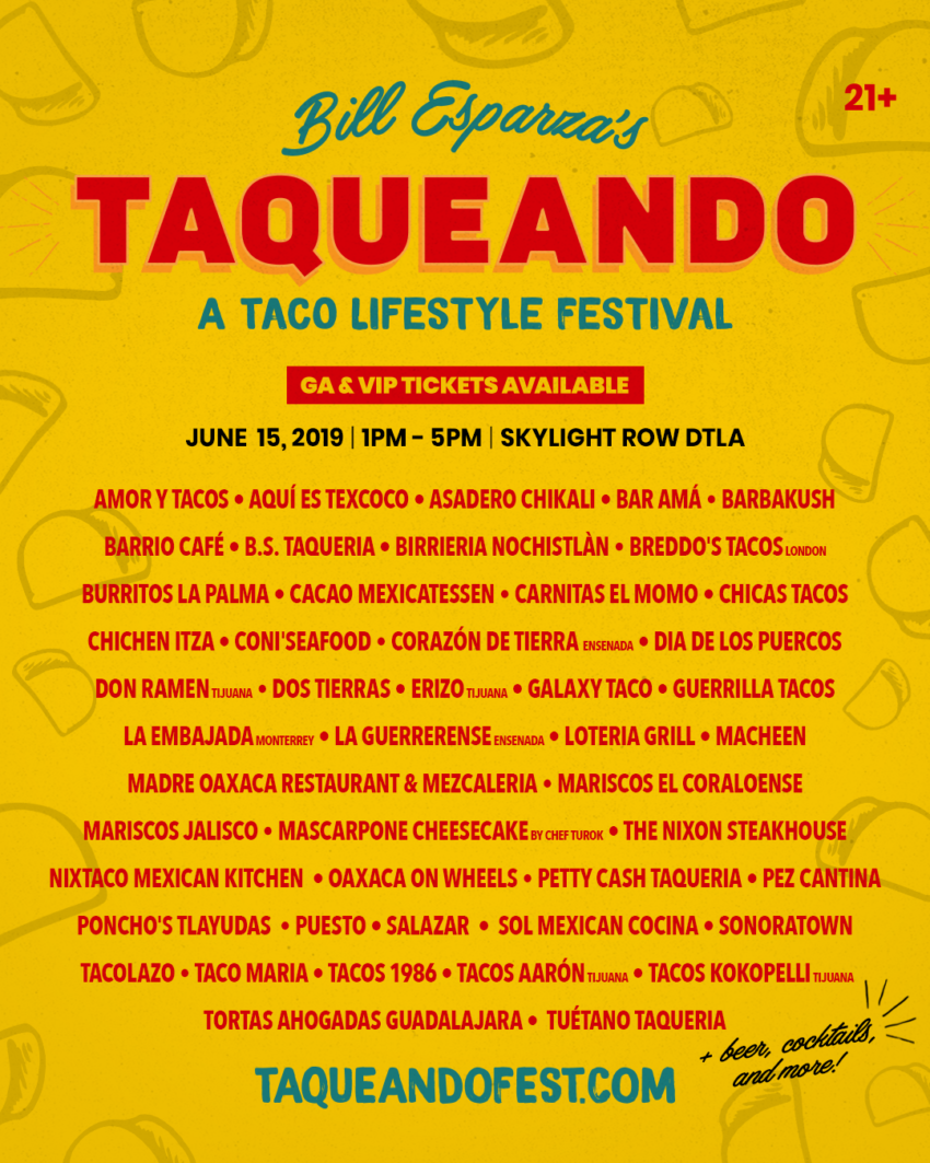 Bill Esparza's Taqueando, all-you-can-eat taco festival