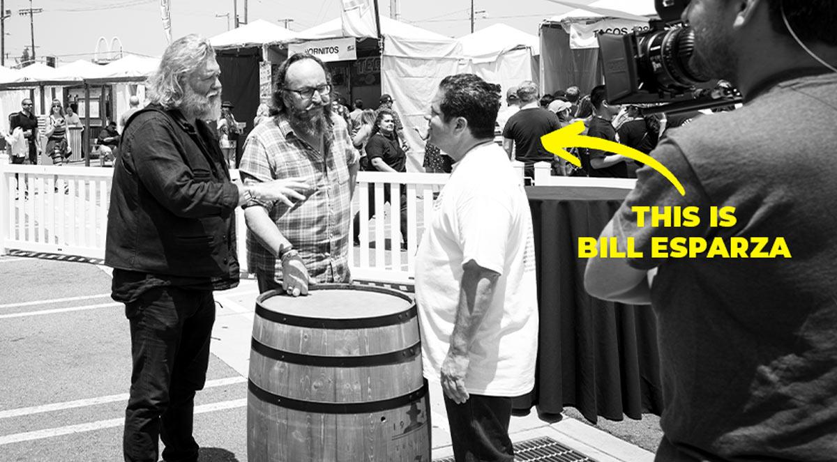 Who is Bill-Esparza-Taqueando from Taco-tasting-festival